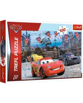 TREFL PUZZLE 100 EL WYŚCIG W LONDYNIE CARS