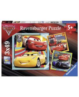 RAVENSBURGER PUZZLE 3X49 EL CARS 3