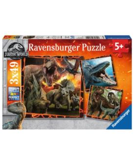 RAVENSBURGER PUZZLE 3X49 EL JURASSIC WORLD 2