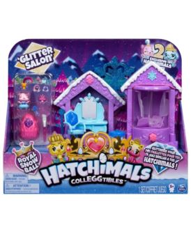 HATCHIMALS THE ROYAL BROKATOWY SALON + 2 FIGURKI