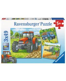 RAVENSBURGER PUZZLE 3X49 EL MASZYNY NA FARMIE