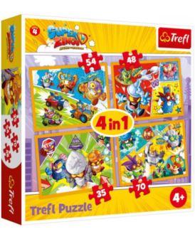 TREFL PUZZLE 4W1 SUPER ZINGS BOHATEROWIE