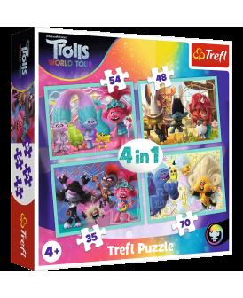 TREFL PUZZLE 4W1 35,48,58,70 EL TRASA TROLI
