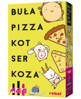 REBEL GRA BUŁA, PIZZA, KOT, SER, KOZA