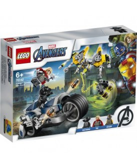 76142 LEGO AVENGERS WALKA NA MOTOCYKLU