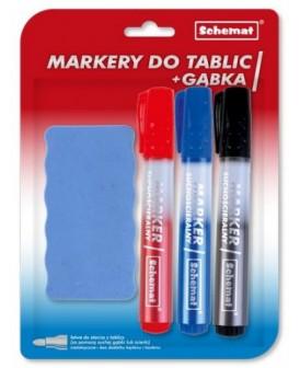 MARKERY DO TABLIC A3 + GĄBKA 0693