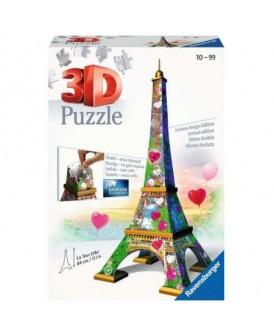 RAVENSBURGER PUZZLE 3D WIEŻA EIFFLA LOVE 216 EL.