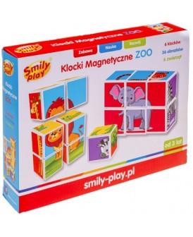 SMILY PLAY KLOCKI MAGNETYCZNE ZOO