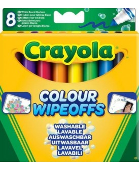CRAYOLA SUCHOŚCIERALNE FLAMASTRY DO TABLIC 8 SZT.
