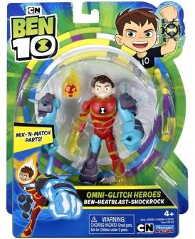 BEN 10 FIGURKA BEN-HEATBLAST-SHOCKROCK 13 CM.