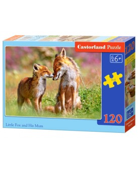 CASTORLAND PUZZLE 120 EL LITTLE FOX AND HIS MUN