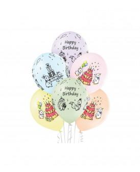 BALONY PREMIUM HAPPY BIRTHDAY 30 CM 6 SZT