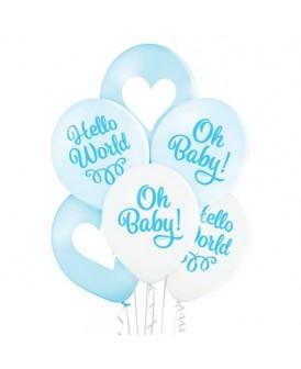 BALONY PREMIUM SHOWER BABY OH BABY ! 30 CM 6 SZT