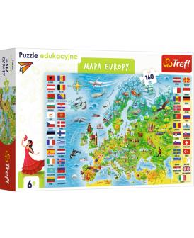 TREFL PUZZLE EDUKACYJNE 160 EL. MAPA EUROPY