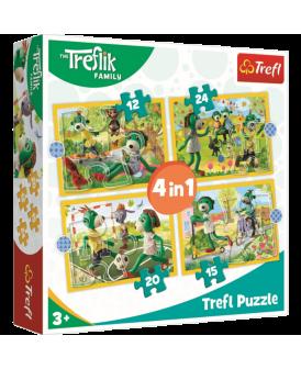 TREFL PUZZLE 4W1 EL WSPÓLNE ZABAWY TREFLIKÓW