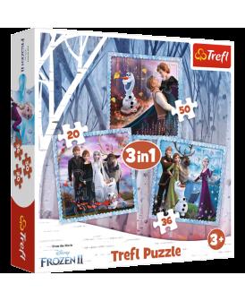 TREFL PUZZLE 3W1 MAGICZNA OPOWIEŚĆ FROZEN 2