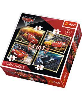 TREFL PUZZLE 4W1 CARS 3